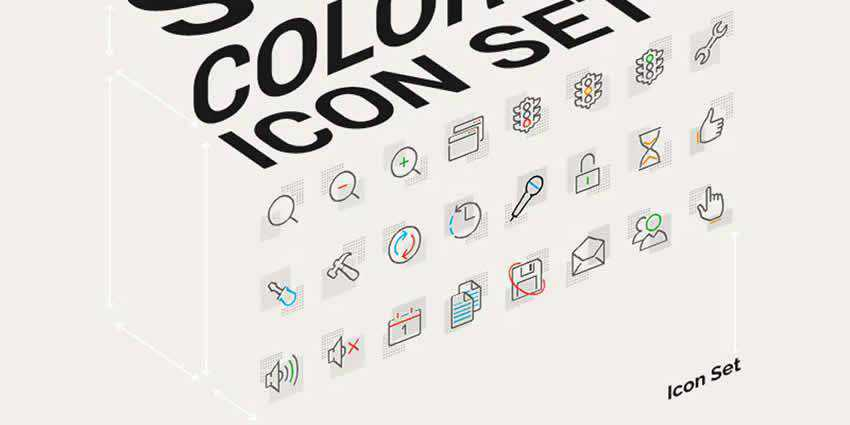 Point Square Color Icons Pack AI PNG SVG