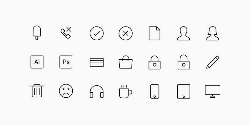 132 Line Icons