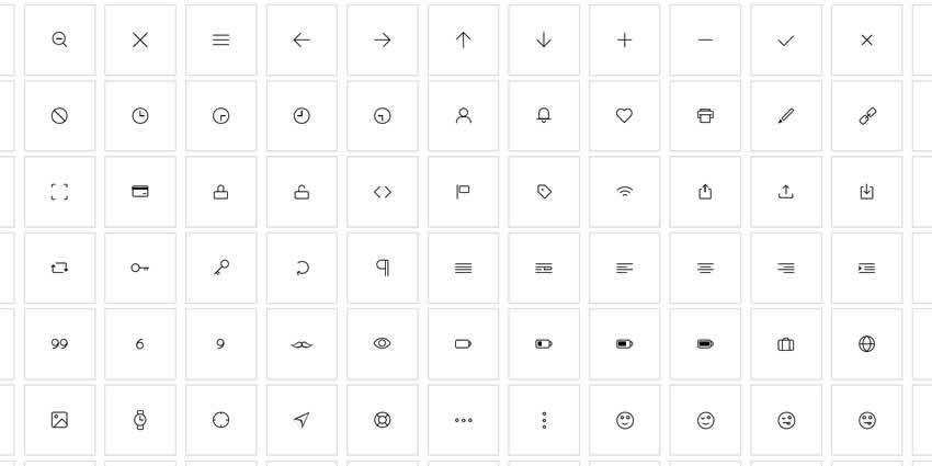 Pure CSS Icon Set