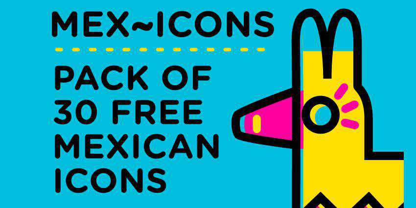 Mex Icons Mexican-Themed Icon Set AI EPS PNG