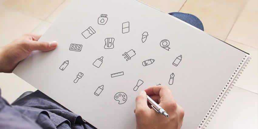 The Free Art Tools Icon Set AI SVG PNG