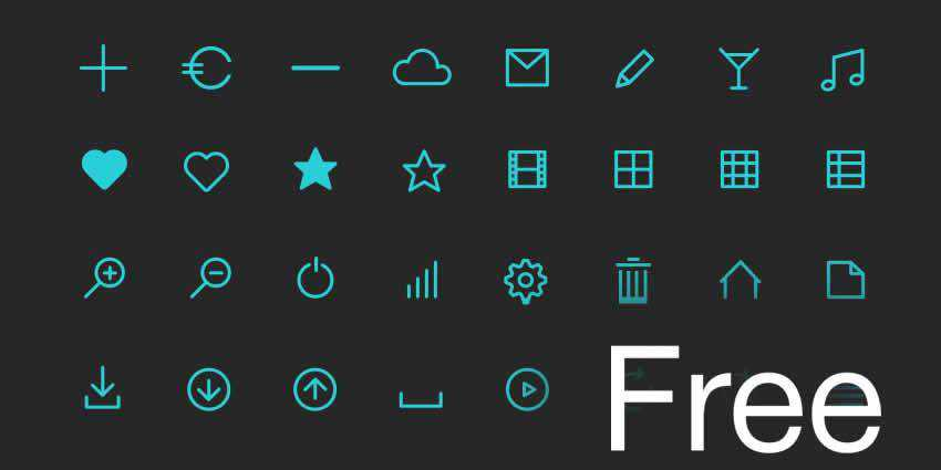 Flat Icon Set AI