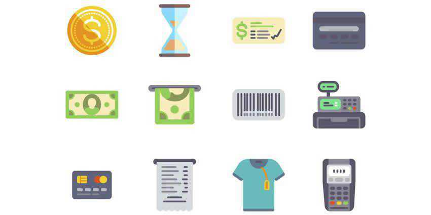50 Free Flat eCommerce Icon Set PNG SVG
