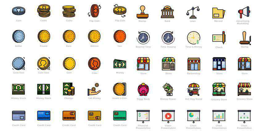 Smashicons Retro Business Icons