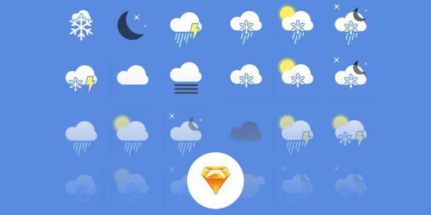 Weather Icons Sketch