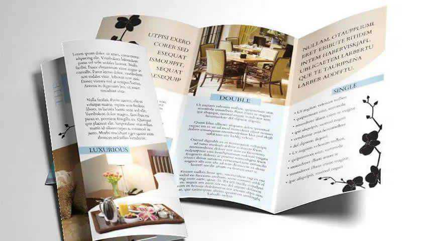 Tri-Fold Hotel InDesign Brochure Template