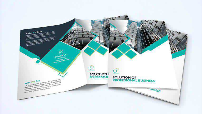 Bi-Fold Business Brochure Template