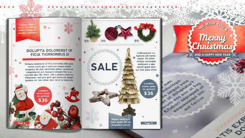 Retro Christmas Brochure Template