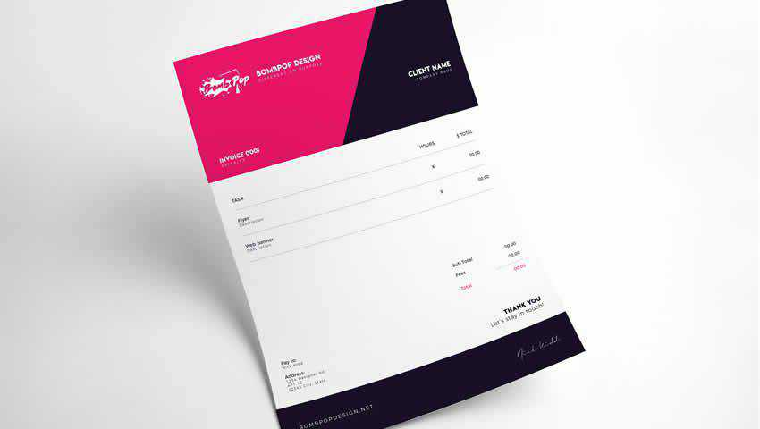 Two Free Invoice Templates