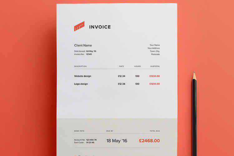 12 Free Invoice Templates For Designers