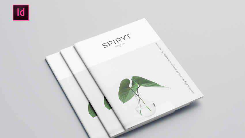Free Minimal Magazine InDesign Template