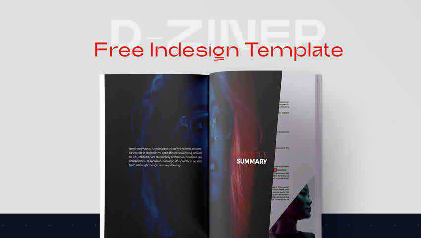 D-Zine Free Magazine InDesign Template