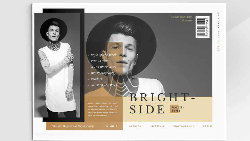 Modern Fashion Magazine InDesign Layout