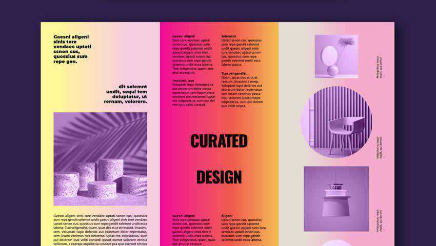 Colorful Shop Brochure Layout for InDesign