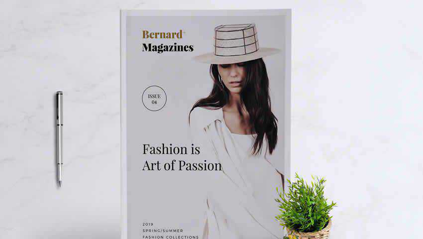 Bernard Fashion InDesign Magazine Template