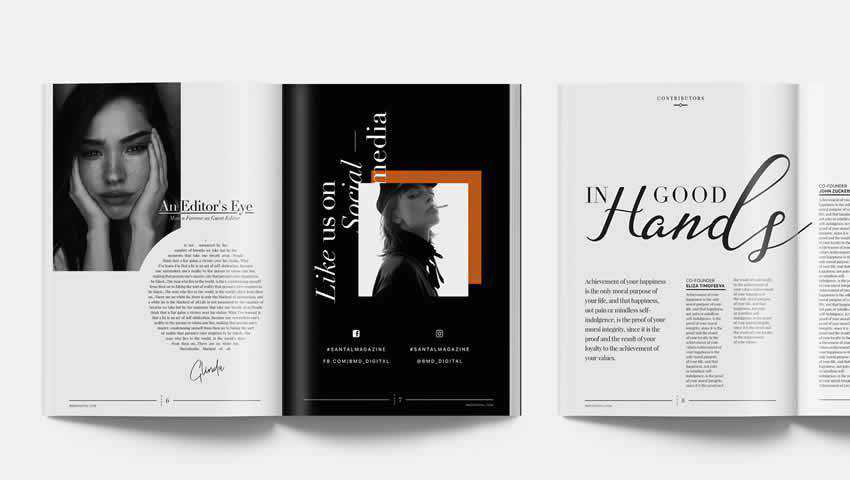 Santal Magazine Editorial Templates for InDesign