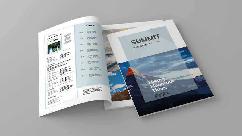 Summit Magazine InDesign Template
