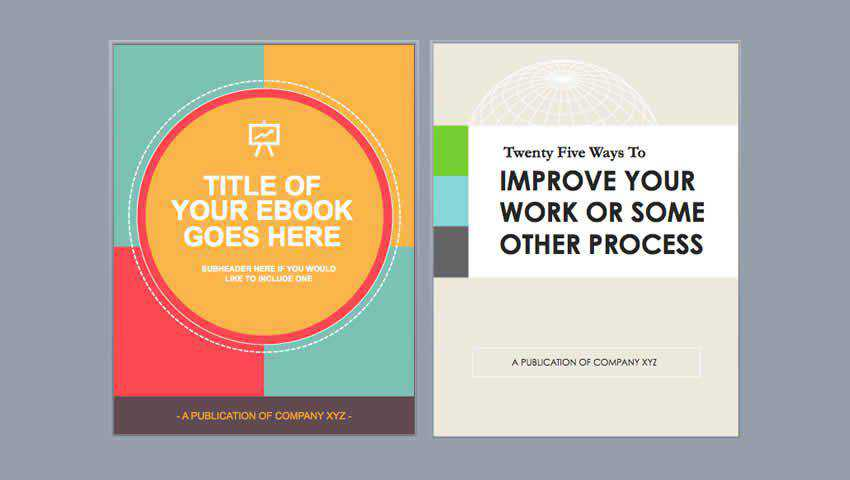Hubspot Free Ebook Templates for InDesign