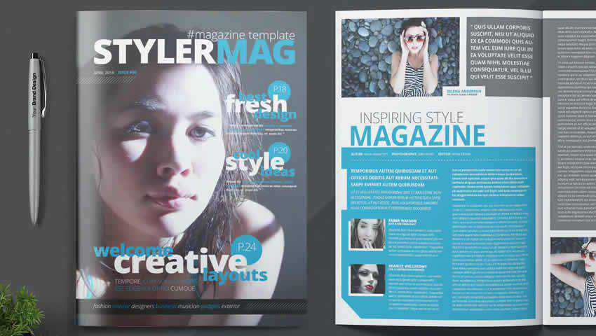 Clean Magazine InDesign Template