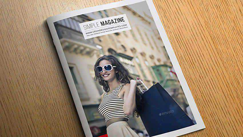 Free Simple Magazine InDesign Template