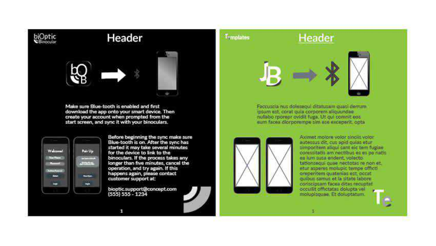 Free Instruction Book InDesign Template