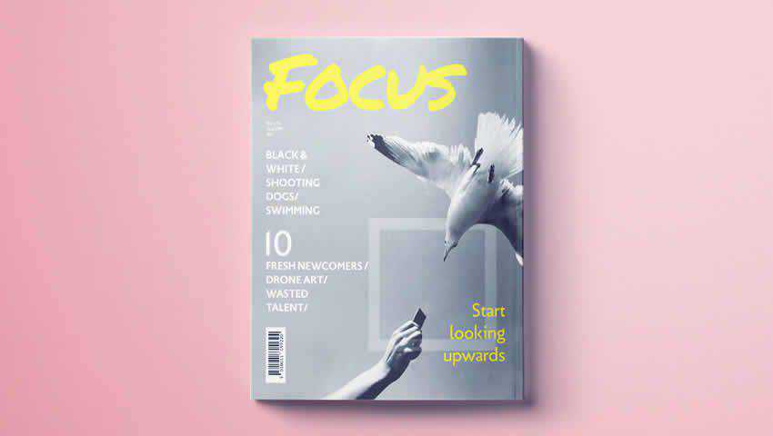 Modern Magazine Cover Template for InDesign
