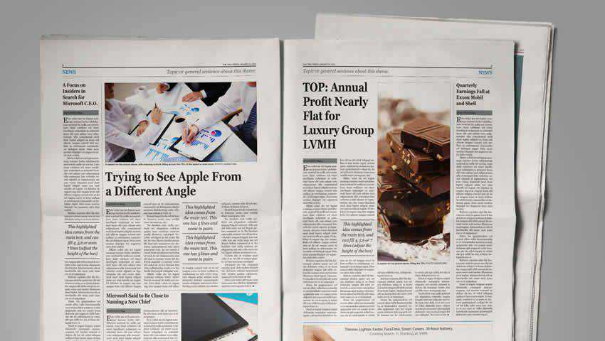 Newspaper Template for InDesign