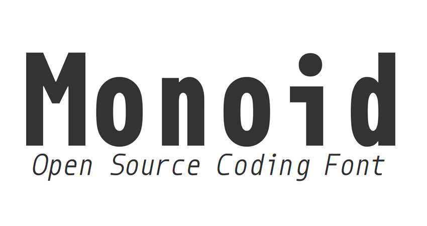 Monoid coding mono monospaced free font family typeface code