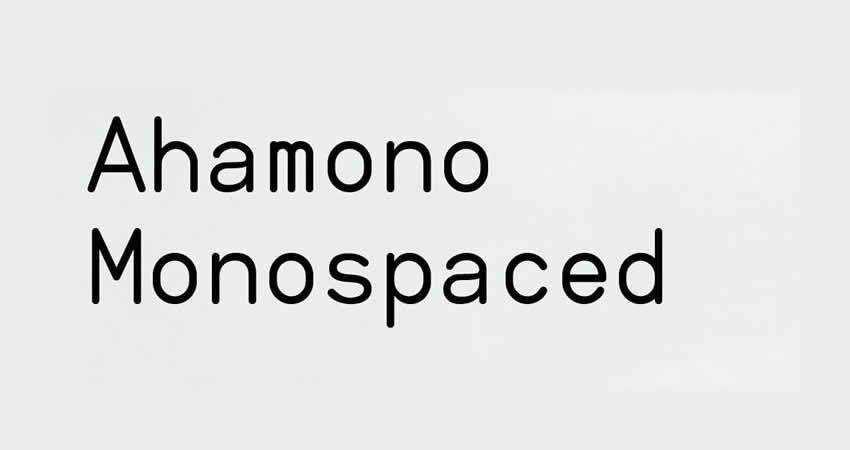 Ahamono mono monospaced free font family typeface code