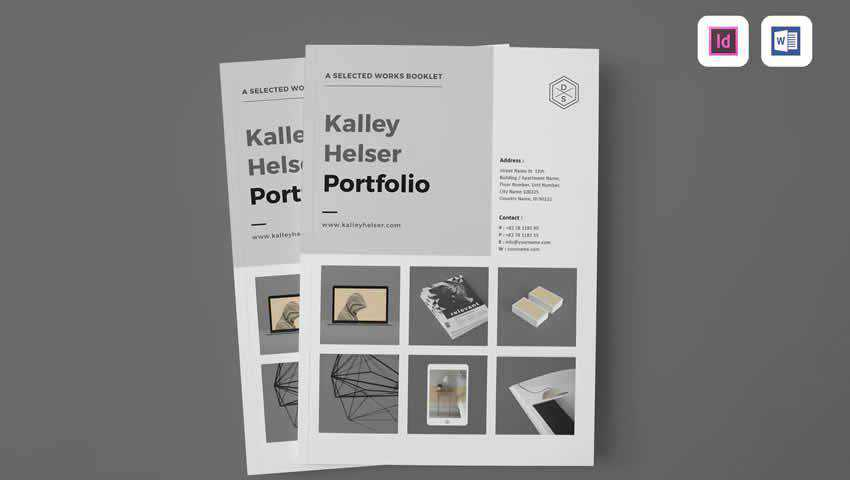 Minimal Portfolio InDesign Template