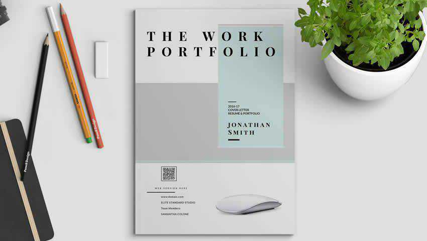 Portfolio Resume InDesign Template