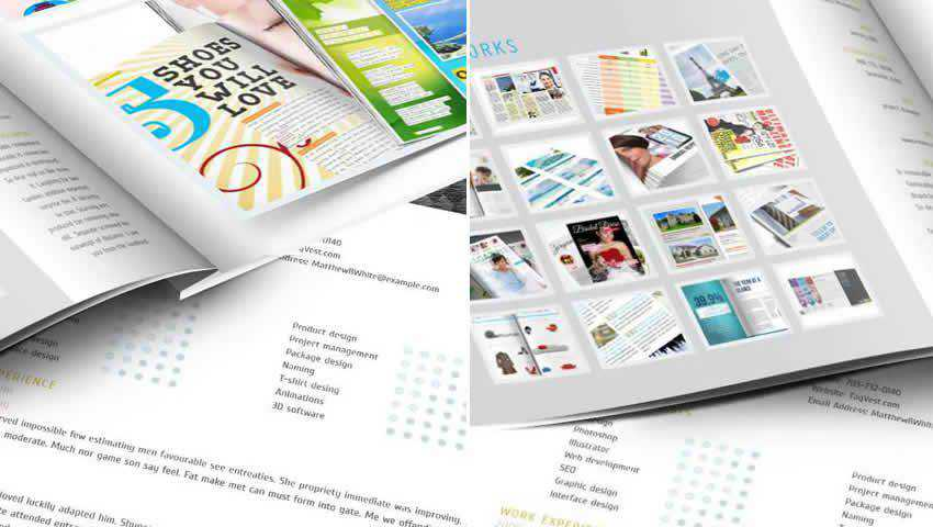 Designer Portfolio InDesign Template