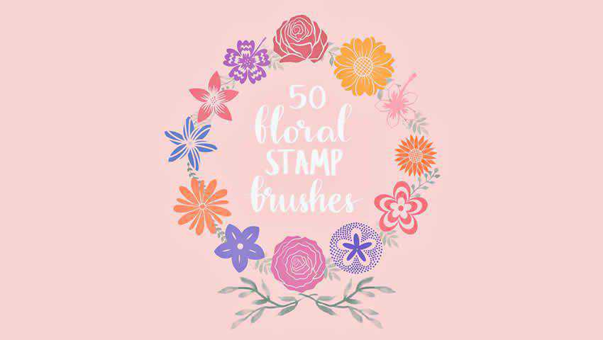 Free Floral Stamp Procreate Brushes