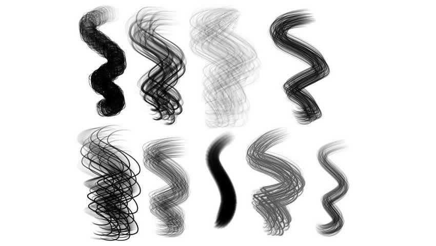 HairBrush Set for Procreate