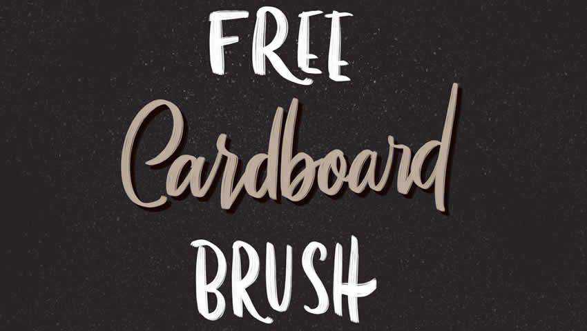 Cardboard Procreate Brush
