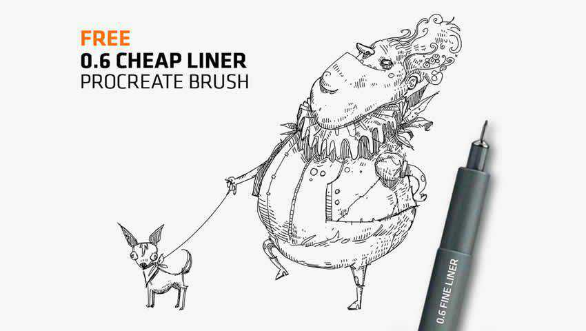 Cheap Fine-Liner Brush for Procreat