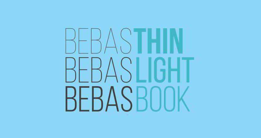 Bebas Neue sans serif free font family typeface