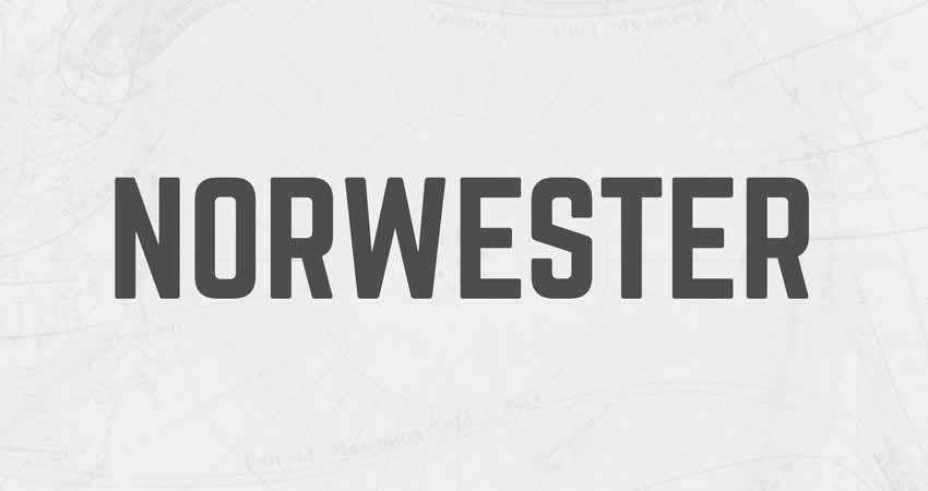 Norwester Condensed Geometric sans serif free font family typeface