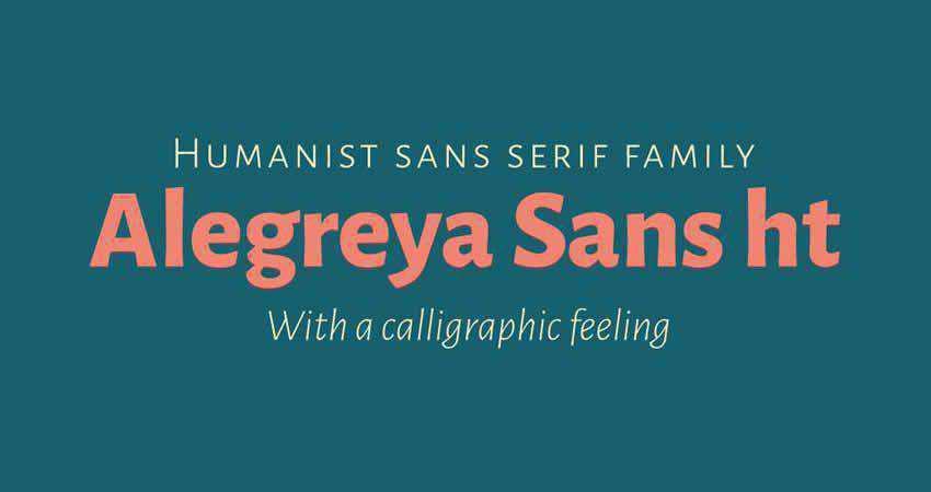 Alegreya HT sans serif free font family typeface