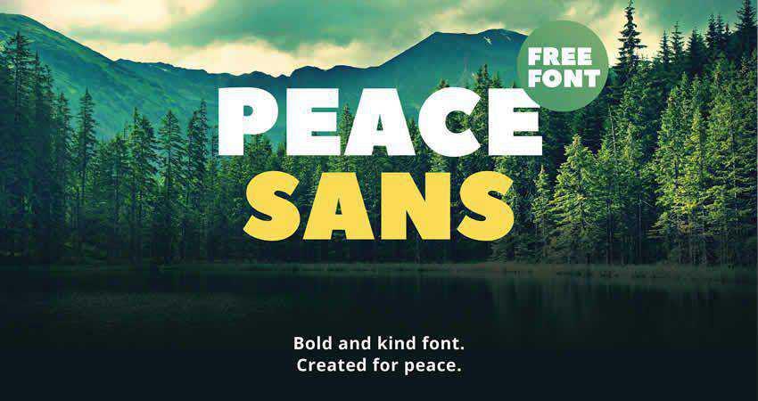 Peace sans serif free font family typeface