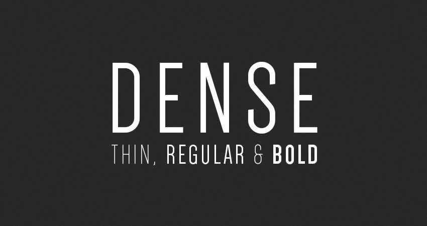 Dense sans serif free font family typeface