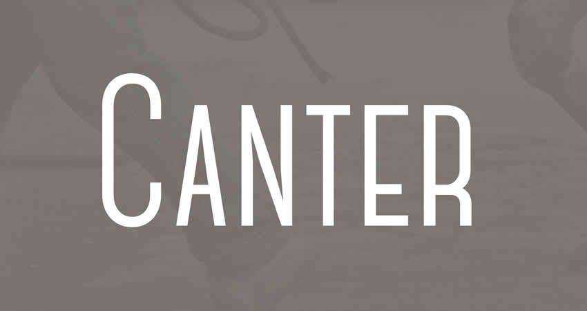 Canter sans serif free font family typeface
