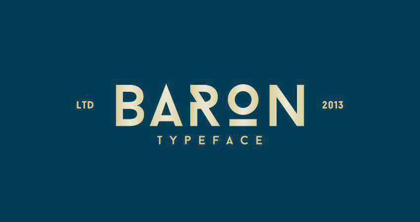 Baron Geometrical sans serif free font family typeface