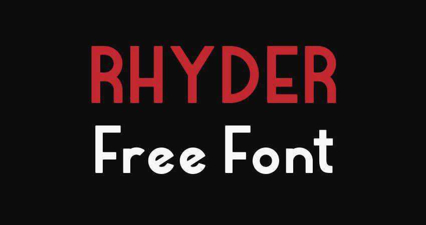Rhyder sans serif free font family typeface