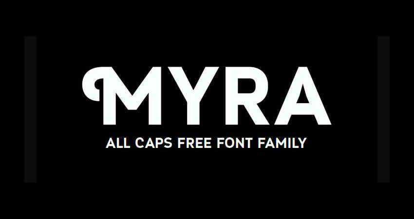 Myra sans serif free font family typeface