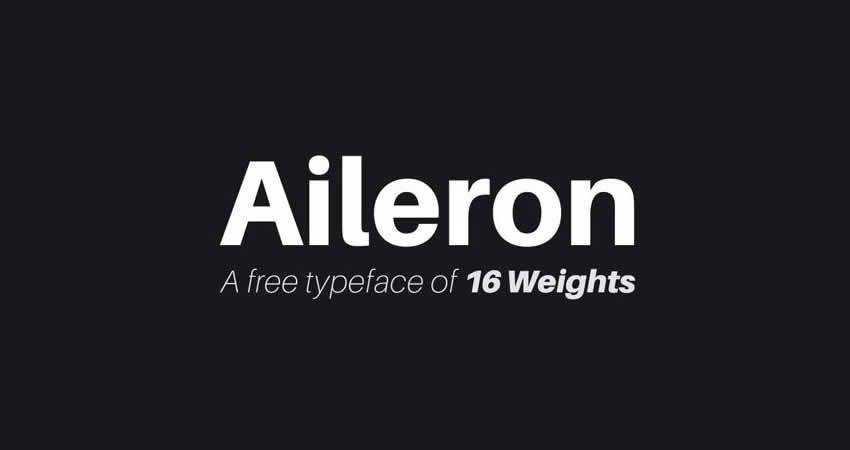 Aileron Sans Serif free font family typeface