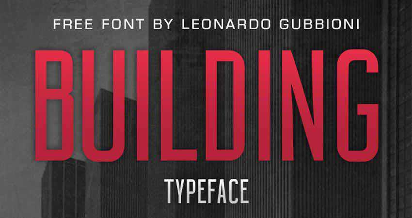 Building Sans Serif free font family typeface