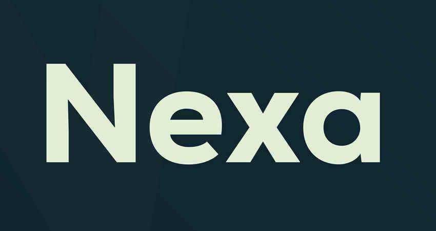 Nexa sans serif free font family typeface