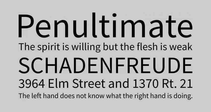 Source sans serif free font family typeface