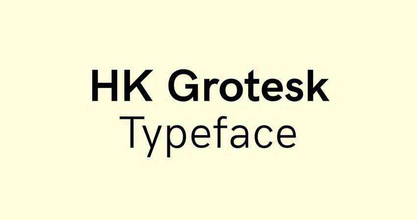 HK Grotesk sans serif free font family typeface